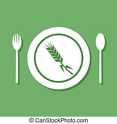 gluten free food symbol - Creative design of gluten free...