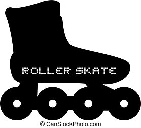 roller skate icon - Creative design of roller skate icon