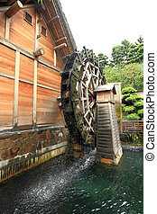 wooden waterwheel