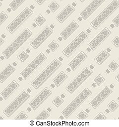Seamless pattern of  electrical extension cords
