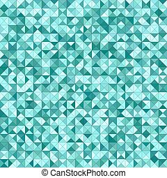 Teal color triangle mosaic background design - Teal color...