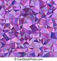 Purple irregular triangle mosaic background - Purple...