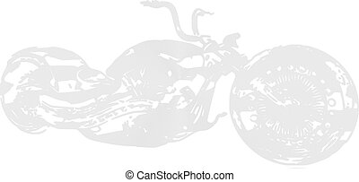 Motocycle, silhouette