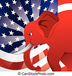 republican party design, vector illustration eps10 graphic
