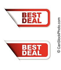 red set vector paper stickers best deal