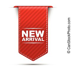 red vector banner design new arrival