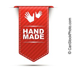 red vector banner design hand made - This is red vector...