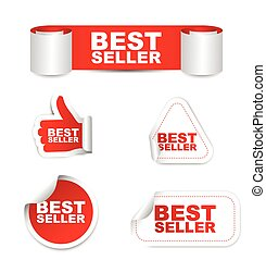 red set vector paper stickers best seller