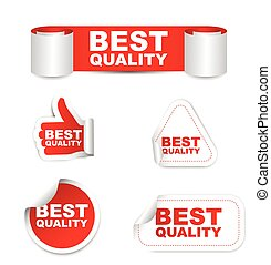 red set vector paper stickers best quality