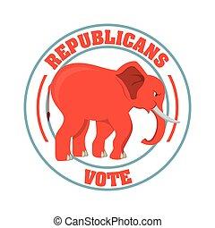 republican party design - republican party design, vector...