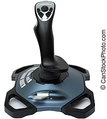 joystick for games on a white background