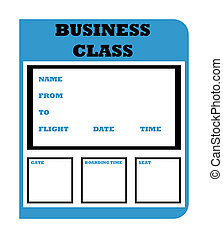 Business class boarding pass