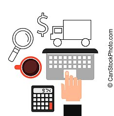 electronic commerce design, vector illustration eps10...