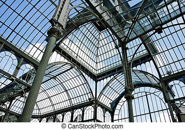 Palacio de Cristal, Madrid - indoor Palacio de Cristal in...