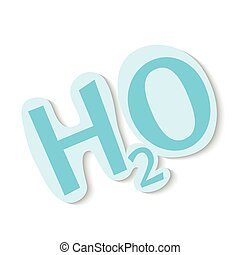 H2O shaped Waterdrops - H2O icon on white background.vector...
