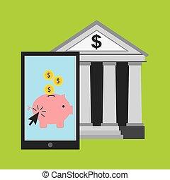 bank online design, vector illustration eps10 graphic