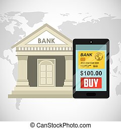 bank online design, vector illustration eps10 graphic
