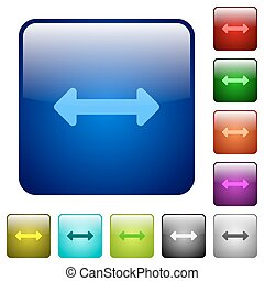 Color resize horizontal glass buttons - Set of color resize...