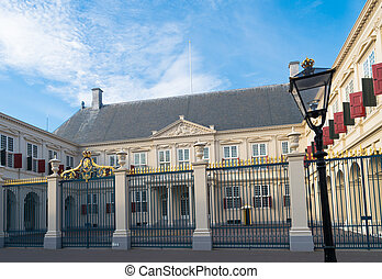Dutch royal residence - Noordeinde Palace in the center of...
