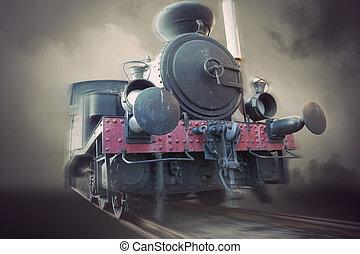 vendimia, vapor, locomotora,