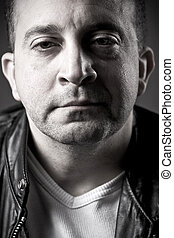 Serious Middle Aged Man - Portrait of a serious middle aged...