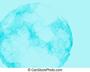 Abstract vector polygonal spheres Futuristic technology low...