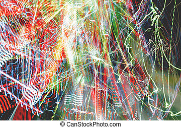 Abstract colorful background. Freezelight effect. Shoot with...