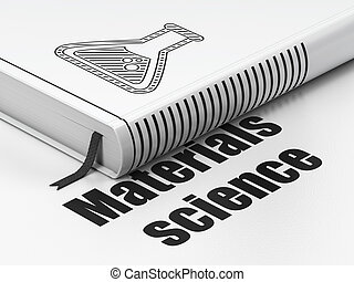 Science concept: book Flask, Materials Science on white...