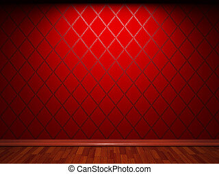 illuminated fabric wallpaper made in 3D graphics