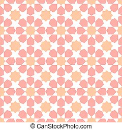 Moroccan mosaic seamless on white background