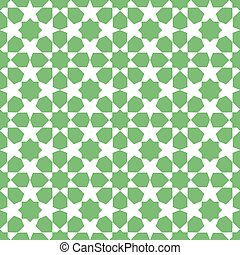 Moroccan mosaic seamless on white background.