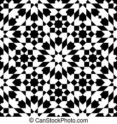 moroccan mosaic seamless on white background. vector...