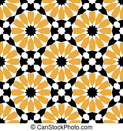 moroccan mosaic seamless pattern background vector...