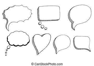 Doodle Speech Bubbles