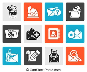 Flat E-mail and Message Icons - vector icon set