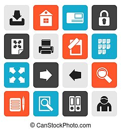 Flat Internet and Web Site Icons