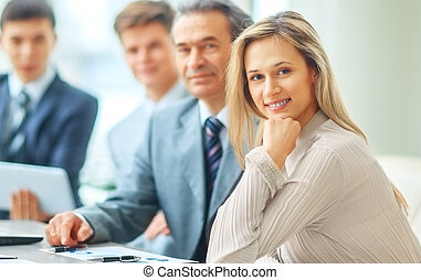 successful business team - a friendly and successful...