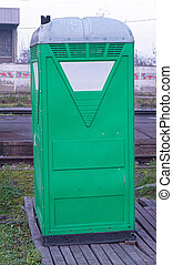 Temporary WC - Temporary portable green toilet cabin