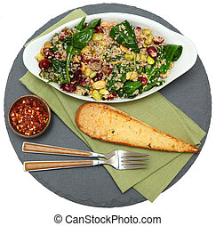 Cranberry Spinach Quinoa Salad - Quinoa Salad with...