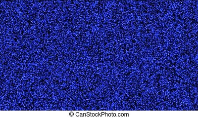 blue static and electronic noise