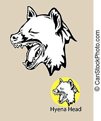Hyena Head Logo, art vector design