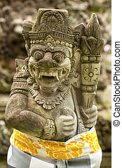 Traditional demon statue - Traditional demon guard statue...