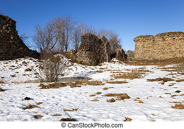 ruins , ancient fortress - the ruins of an ancient fortress,...