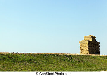 Stack of straw, wheat