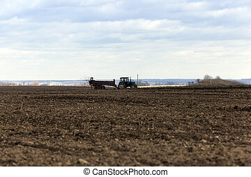 fertilizer agricultural field - Agricultural field on which...