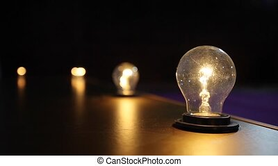 Light Bulb Ideas in The Evening Time.