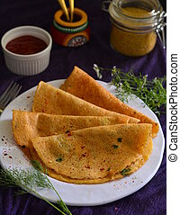 Dosa - Indian lentil and rice pancake