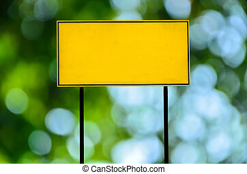 traffic road sign on green nature background
