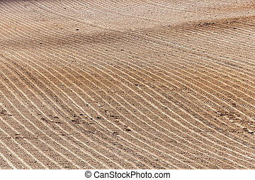 plowed agricultural field - agricultural field, ready for...