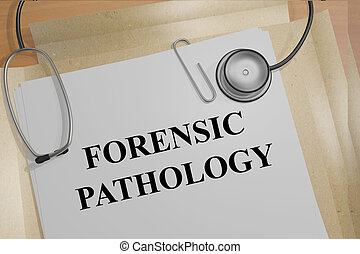 Forensic Pathology concept - 3D illustration of FORENSIC...